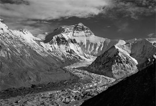 North Face of Everest from Mallory 1921 Viewpoint